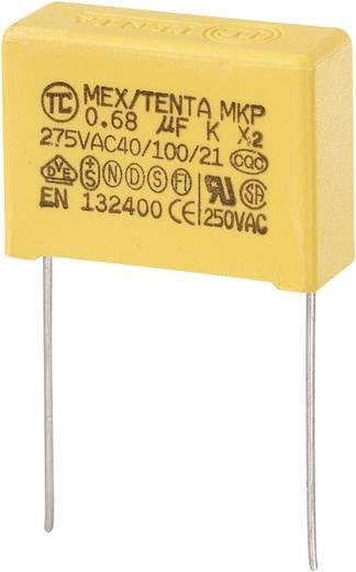MKP kondenzátor X2, 0,68 µF, 275 V/AC, ±10 %, 26,5 x 10 x 19 mm, raszter: 22,5 mm