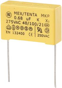 MKP kondenzátor X2, 0,56 µF, 275 V/AC, ±10 %, 30 x 11 x 20 mm, raszter: 27,5 mm (450259)