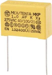 MKP kondenzátor X2, 1 µF, 275 V/AC, ±10 %, 32 x 13 x 23 mm, raszter: 27,5 mm (MKP-X2)