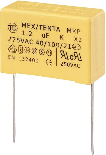 MKP kondenzátor X2, 1,2 µF, 275 V/AC, ±10 %, 32 x 13 x 23 mm, raszter: 27,5 mm