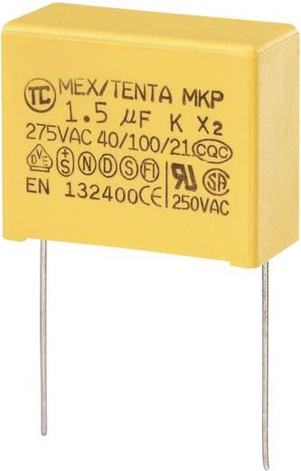 MKP kondenzátor X2, 1,5 µF, 275 V/AC, ±10 %, 32 x 15 x 25 mm, raszter: 27,5 mm