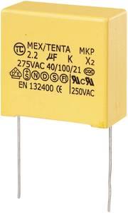 MKP-X2 zavarszűrő kondenzátor, radiális 2,2 µF 275 V/AC 10 % RM 27,5 mm 32 x 18 x 30 mm TRU COMPONENTS MKP-X2 (450277) TRU COMPONENTS