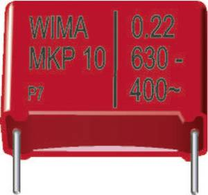 MKP fóliakondenzátor, radiális, álló 1000 pF 630 V/DC 20 % RM 7,5 mm 10 x 4 x 9 mm Wima MKP 10 1000pF 10% 630V Wima