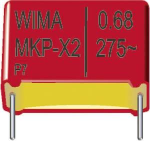 MKP-X2 zavarszűrő kondenzátor, radiális 0,015 µF 275 V/AC 20 % RM 7,5 mm 10 x 4 x 9 mm Wima MKX21W21502C00MA00 1700 db Wima