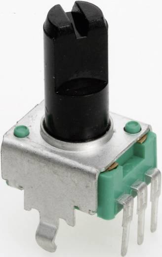 Vezető műanyag potenciométer, felül állítható, 9 mm lin 500 Ω ± 20 %, TT Electronics AB P090S-04F20 B-500 R