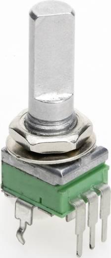 Vezető műanyag potenciométer, felül állítható, 9 mm lin 50 kΩ ± 20 %, TT Electronics AB P0915N-FC20 B-50 KR