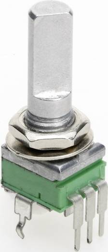 Vezető műanyag potméter, felül állítható, 9 mm lin 100 kΩ ± 20 %, TT Electronics AB P0915N-FC20 B-100 KR