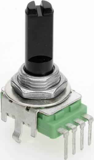 Vezető műanyag potenciométer, felül állítható, 11 mm lin 50 kΩ ± 20 %, TT Electronics AB P110KH1-0F20 B-50 KR
