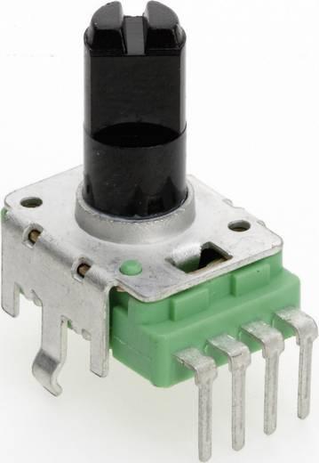 Vezető műanyag potenciométer, felül állítható, 11 mm lin 500 Ω ± 20 %, TT Electronics AB P110KH-0F20 B-500 R