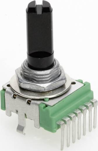 Vezető műanyag potenciométer, felül állítható, 14 mm lin 100 kΩ ± 20 %, TT Electronics AB P140KH-F20 B-100 KR