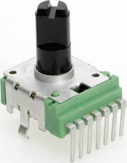 Vezető műanyag potenciométer, felül állítható, 14 mm lin 1 kΩ ± 20 %, TT Electronics AB P140KH-F20 B-1 KR