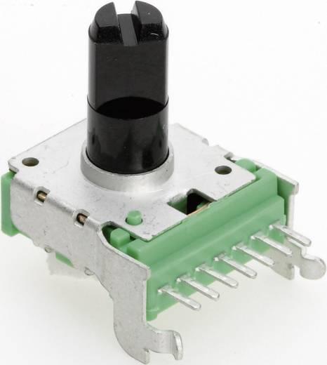 Vezető műanyag potenciométer, oldalt állítható, 14 mm lin 100 kΩ ± 20 %, TT Electronics AB P140KV-F20 B-100 KR