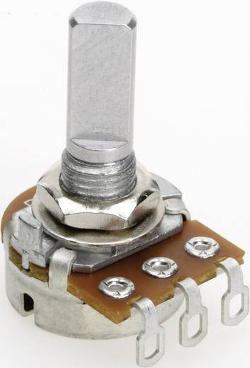 Vezető műanyag potenciométer, oldalt állítható, 16 mm lin 500 Ω ± 20 %, TT Electronics AB P160KNP-0FC20 B-500 R