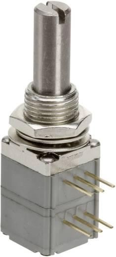 Vezető műanyag potenciométer, oldalt állítható, 2 menetes, 12,7 mm lin 100 kΩ, TT Electronics AB P260P-D2BS4A B-100 KR