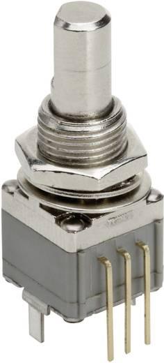 Vezető műanyag potméter kapcsolós, felül állítható, 12,7 mm 100 kΩ, TT Electronics AB P260T-D1BF3C B-100KR