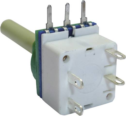 Potenciométer kapcsolóval, 6 mm-es tengellyel, lin 10 kΩ, Potenciométer Service GmbH 7515