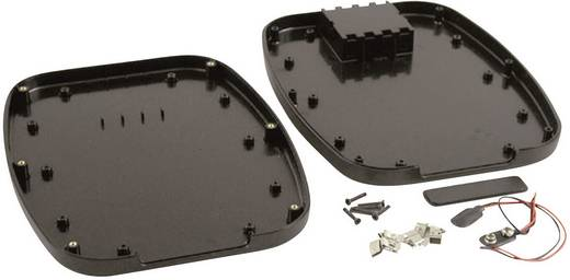 Kézi műszerdoboz ABS fekete 240 x 190 x 30 Hammond Electronics 1599TABLBKBAT, 1db