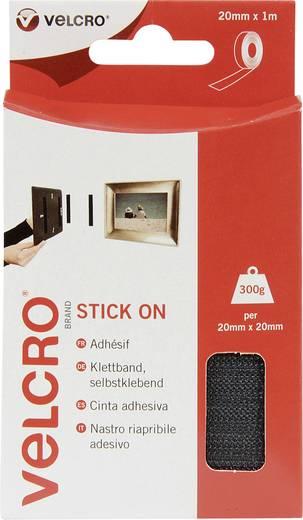 Öntapadó tépőzár szalag, 1 m x 20 mm, fekete, Stick On EC60210