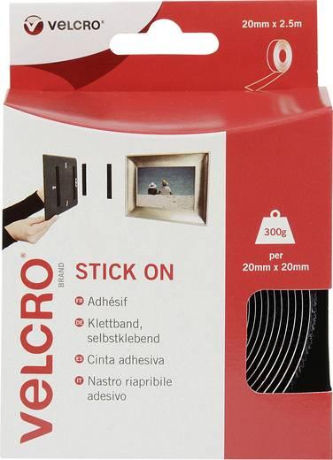 Öntapadó tépőzár szalag, 2,5 m x 20 mm, fekete, Stick On EC60214