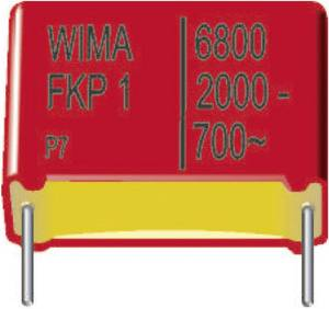 FKP fóliakondenzátor, radiális, álló 0,22 µF 2000 V/DC 5 % RM 37,5 mm 41,5 x 24 x 45,5 mm Wima SNFPU032207H1IJS00 112 db Wima
