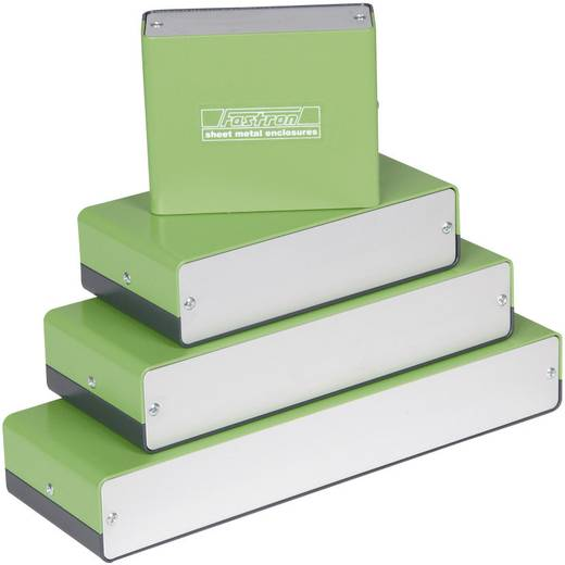 Fastron aluminium doboz FSG FSG2084 alumínium (H x Sz x Ma) 200 x 80 x 40 mm, zöld, szürke