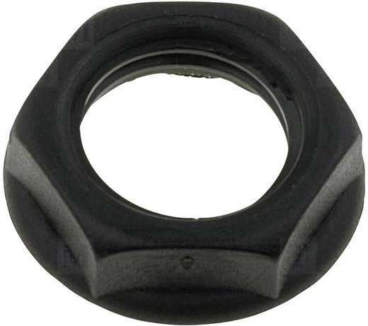Csavar anya beépíthető jack aljzatokhoz fekete színben Cliff CL1408