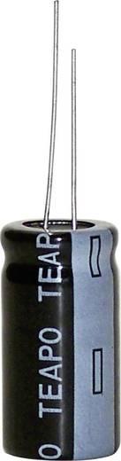 Elektrolit kondenzátor, radiális, álló, 5 mm 2200 µF 20 % (Ø x Ma) 13 x 25 mm KTA228M016S1A5L25K