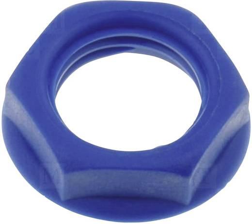 Csavar anya beépíthető jack aljzatokhoz kék színben Cliff CL1412