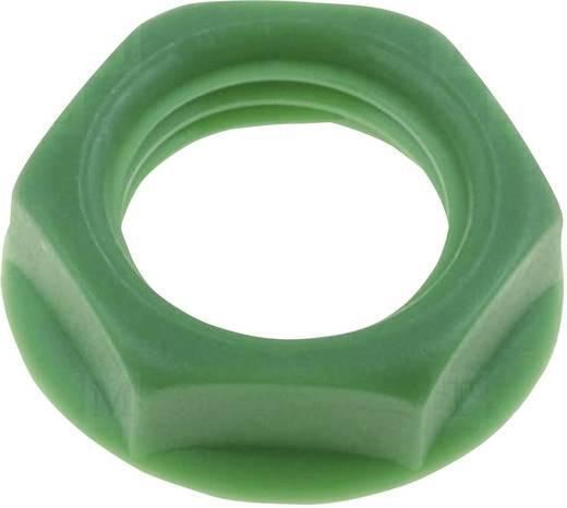 Csavar anya beépíthető jack aljzatokhoz zöld színben Cliff CL1414