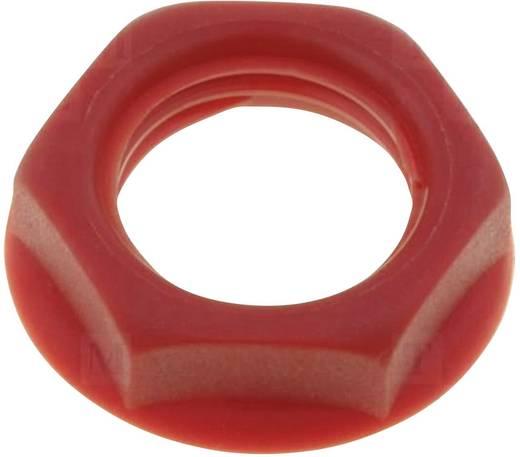 Csavar anya beépíthető jack aljzatokhoz piros színben Cliff CL1416