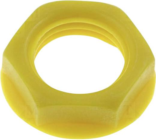 Csavar anya beépíthető jack aljzatokhoz sárga színben Cliff CL1420