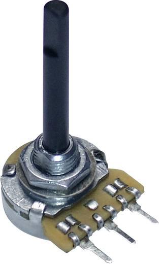 Forgó potméter, 16 mm, mono, log 47kΩ, 0,12W, Potentiometer Service GmbH PC16BU 9620