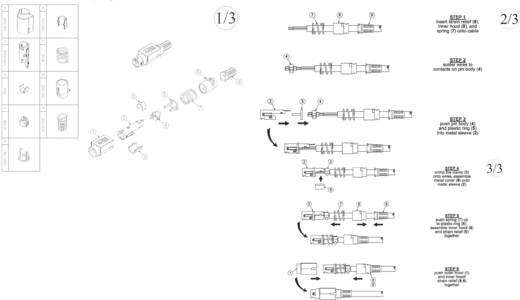 Hálózati csatlakozó dugó, egyenes, pólusszám: 4, fekete, 7,5 A, BKL Electronic 0210004