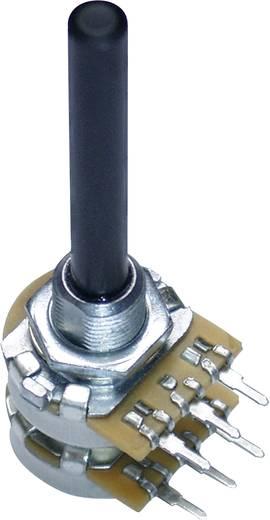 Forgó potméter, 16 mm, sztereo, lin 100kΩ, 0,25W, Potentiometer Service GmbH PC2G16BU 9708