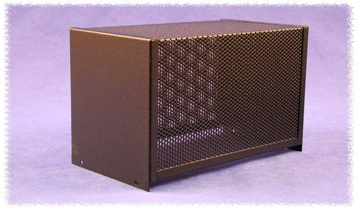 Hammond Electronics acél dobozok, lyukasztott, 1451-es sorozat 1451-16BK3 acél (H x Sz x Ma) 254 x 152 x 132 mm, fekete