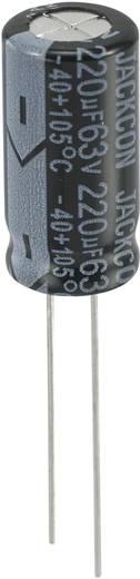Elektrolit kondenzátor radiális kivezetéssel, álló elkó, 5 mm 220 µF 63 V 20 % (Ø x Ma) 10 mm x 20 mm 1 db