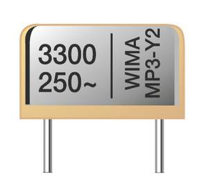 Rádiófrekvenciás zavarszűrő kondenzátor MP3R-Y2 radiális 2200 pF 250 V/AC 20 % Wima MPRY0W1220FC00MJ00 1200 db Wima