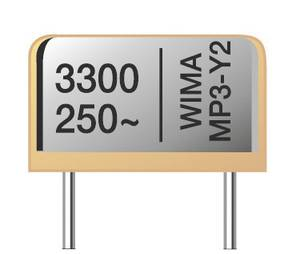 Wima MPX12W2470FG00MSSD Rádiójel zavarszűrő kondenzátor, MP3-X1 Radiális kivezetéssel 0.047 µF 300 V/AC 20 % 500 db Bulk Wima