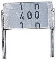 MKT fóliakondenzátor, radiális, álló 10 nF 400 V/AC 10 % RM 7,5 mm 9 x 2,5 x 5,5 mm Epcos B32560-J6103-K TDK