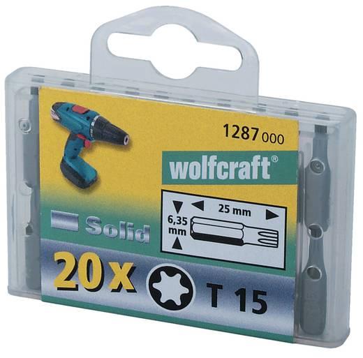 Torx bithegy készlet 25 mm, 20 db, Wolfcraft 1289000
