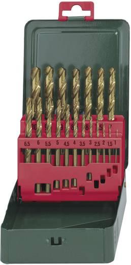 HSS TIN Spirálfúró készlet, 19 részes, DIN 338 Metabo 627156000