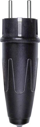 Szerelhető hálózati dugó, gumi, 250 V, fekete, IP20, Schneider Electric 123551