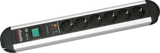 Hálózati elosztó 6 részes, alu/fekete, Bachmann Electric 331.010