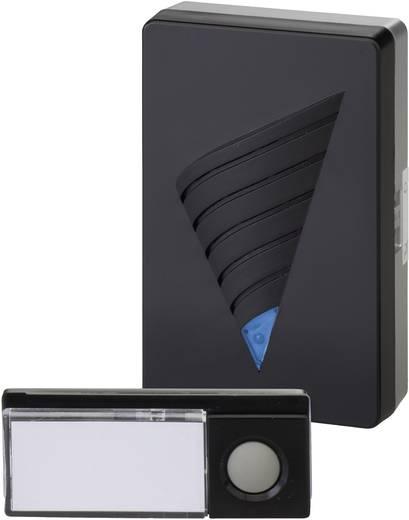 Vezeték nélküli csengő készlet, max.150m, 433MHz, ezüst-fekete, Heidemann 70820