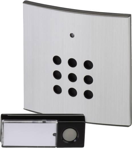 Vezeték nélküli ajtócsengő max.150m 433MHz ezüst-fekete színben Heidemann 70821