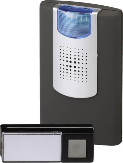 Vezeték nélküli ajtócsengő villogó visszajelzővel max.200m 433MHz antracit-ezüst színben Heidemann HX 70825