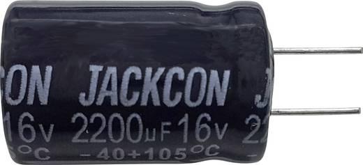 Szubminiatűr elektrolit kondenzátor, radiális, álló, RM 5 mm 10 µF 63 V 20 % Ø 5,5 x 12 mm