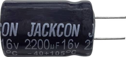 Szubminiatűr elektrolit kondenzátor, radiális, álló, RM 5 mm 22 µF 63 V 20 % Ø 6,5 x 12 mm