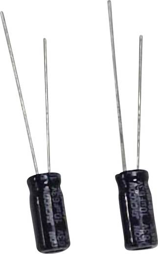 Szubminiatűr elektrolit kondenzátor, álló elkó, 100μF/63V