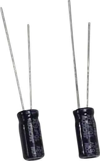 Szubminiatűr elektrolit kondenzátor, radiális, álló, RM 2 mm 10 µF 63 V 20 % Ø 5 x 11 mm
